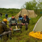 Kamchatka Wilderness Float Campsite