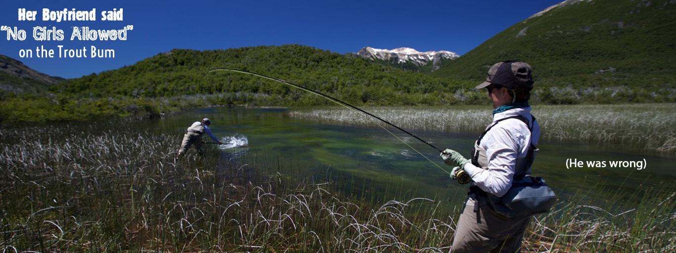Women's fly fishing, Rio Pico Argentina