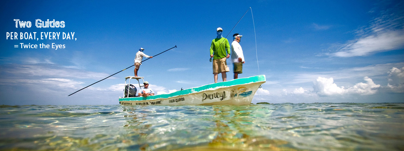 Palometa Club Two guides per boat policy