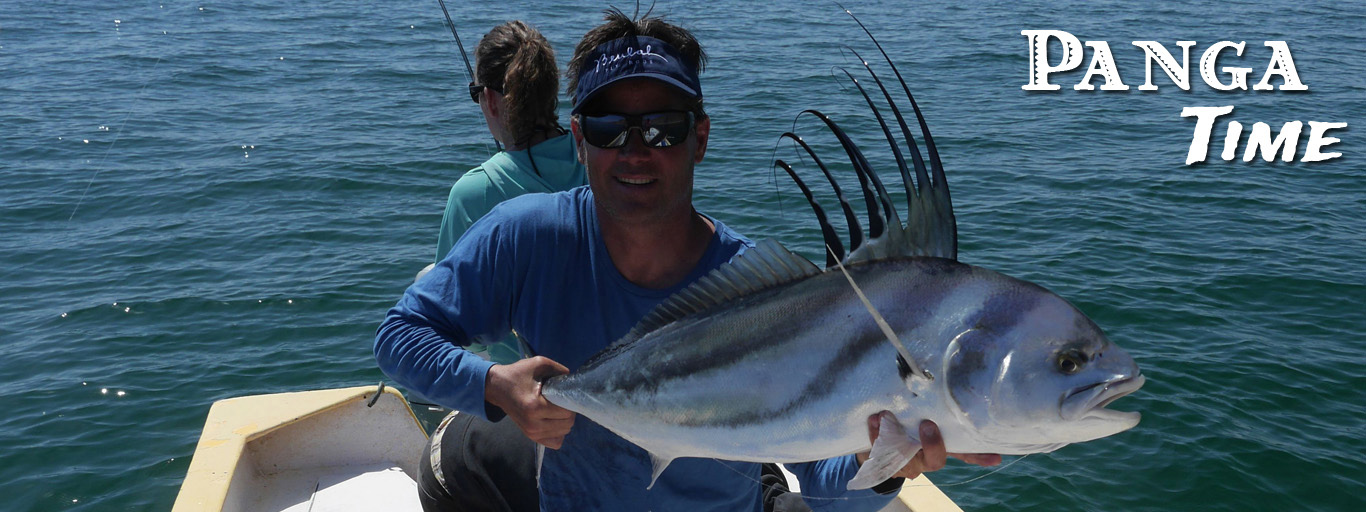 Roosterfish on the fly panga