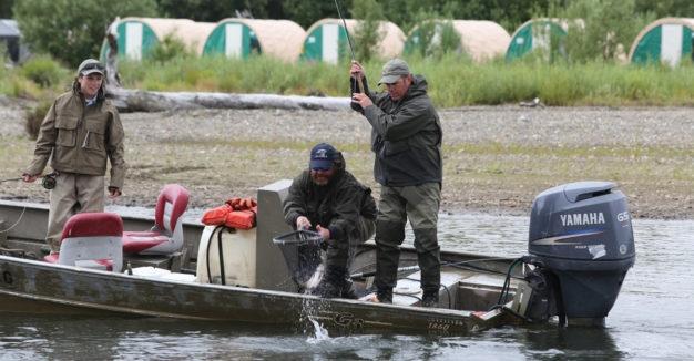Aniak River Lodge tent Camp Alaska Fly Fishing