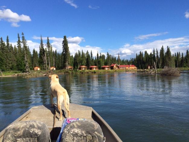 Lodge on Aniak River