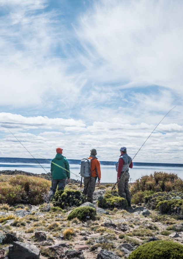 Spring creeks, smaller lakes, and the upper river all provide angling opportunities on Jurassic Lake estancias
