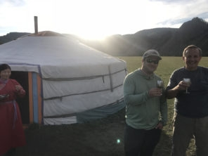 Arrival at taimen ger camp on delgar murun