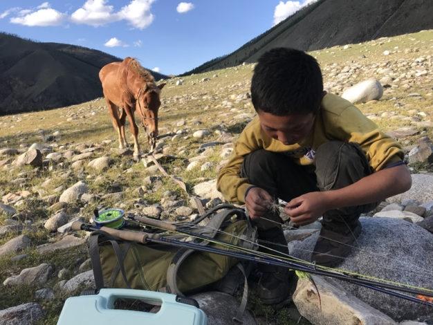 Mongolia local herders taimen