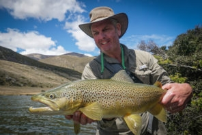 Brown Trout on dry flies in New Zealand