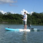Hemispheres Unlimited owner Justin Witt scanning the mangroves at Ambergris Caye in Belize