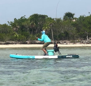 Permit fishing from a stand up paddleboard