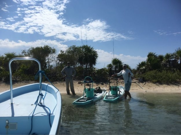 Skiffs and SUPs for DIY flats fishing in Belize