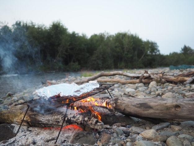 Aluminum foil campfire dolly varden